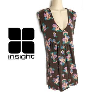 Insight Skater V Neck Pocket Toadstool Dress